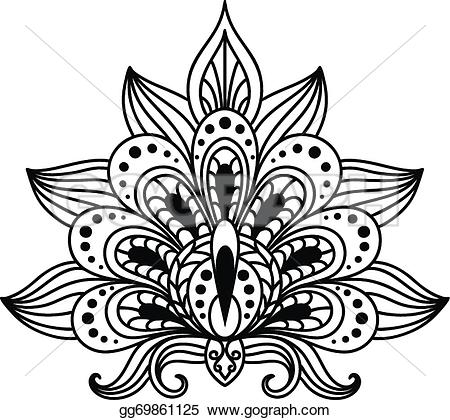 Persian clipart paisley Floral Ornate style persian gg69861125