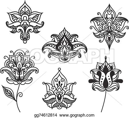 Persian clipart paisley In flowers flowers indian Art