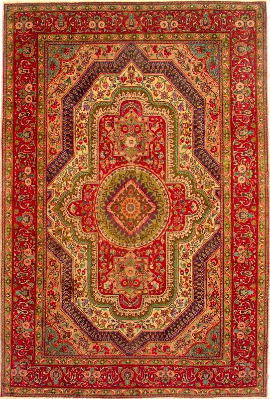 Persian clipart rug Cover Tabriz Tabriz Covers Book