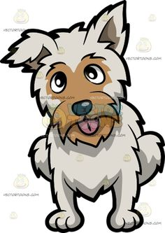 Pet clipart animal fur Curious Yorkshire A white Terrier