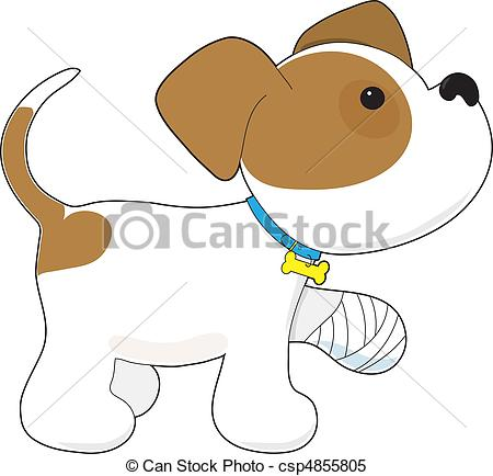 Pet clipart bandage Paw with of Paw Hurt