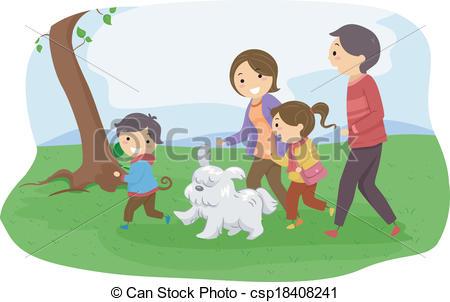 Pet clipart family Vector Dog/ Family Family of