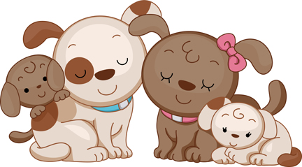 Pet clipart family Clipart Family dog  and