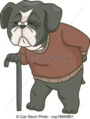 Bloodhound clipart old dog Old Dog Dog an Old