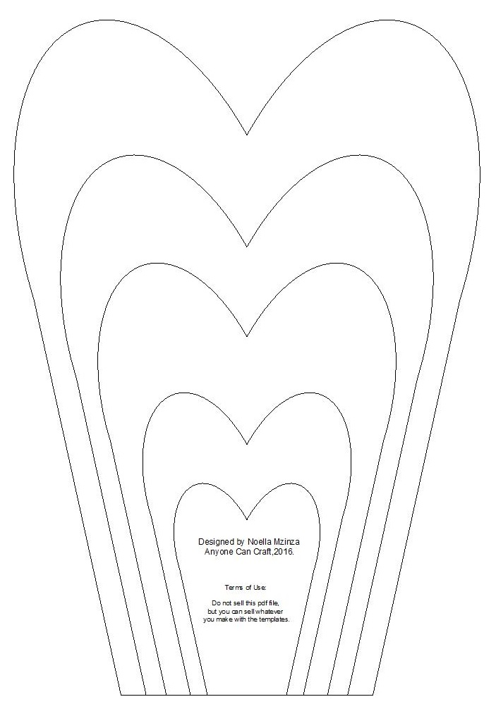 Petal clipart craft For on templates  images