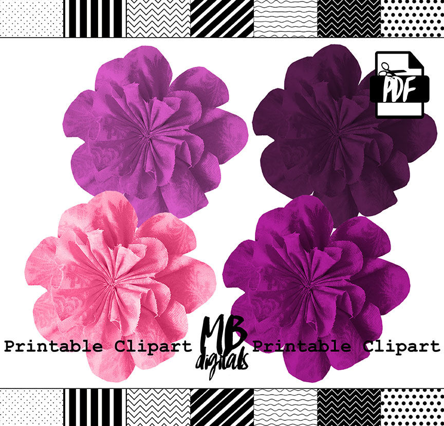 Petal clipart small flower Fabric Clipart Flowers is Flowers