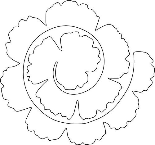 Petal clipart felt flower FREE blog The flower Chop