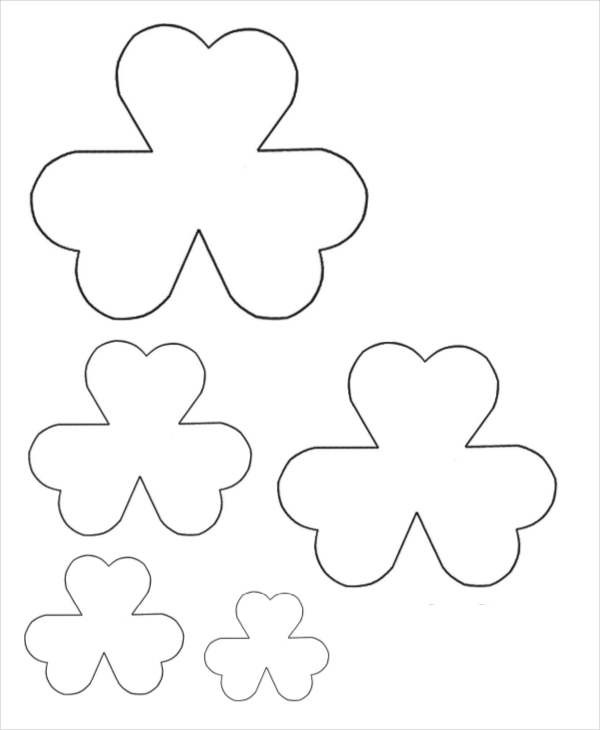 Petal clipart felt flower Felt Template Flower Download Template