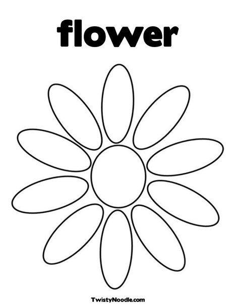Petal clipart flower coloring Best (468×605) on 776205 Stencil