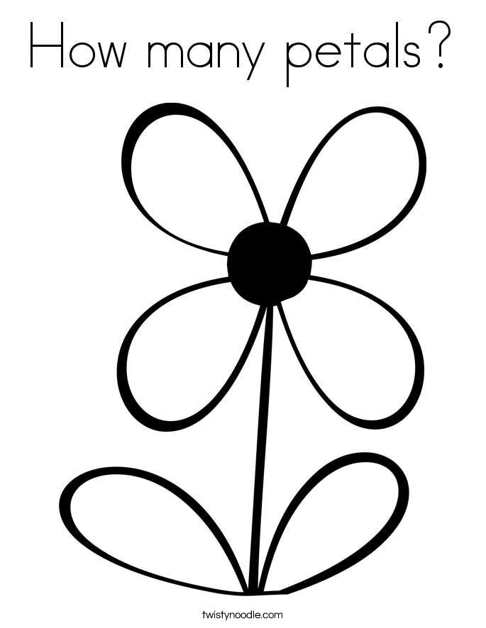 Petal clipart flower coloring How Coloring Coloring many many