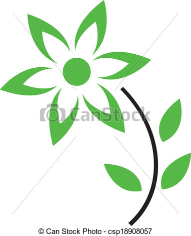 Petal clipart flower leaves  with and Curved Art