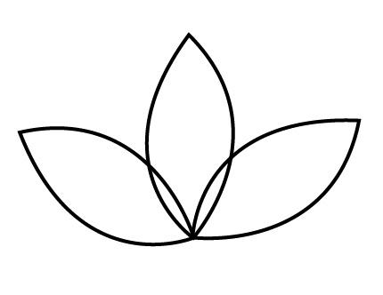 Petal clipart flower leaves Art Clip Download Outline on