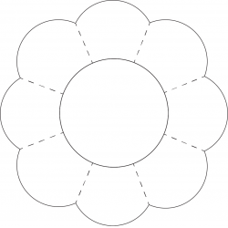 Petal clipart flower shape – Shapes 8 Templates Petal