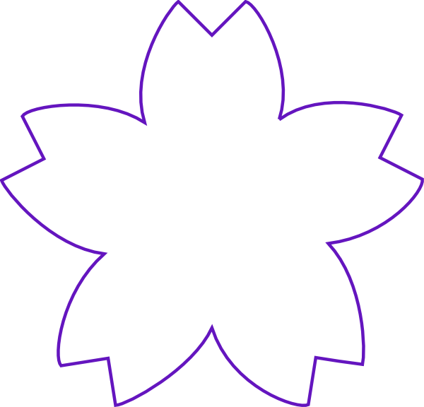 Petal clipart flower shape Vector this as:  online