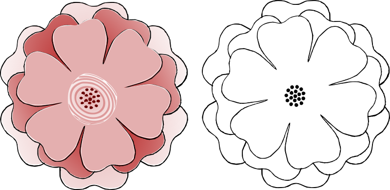 Petal clipart flower template Multi s3 choice 6 IMAGE