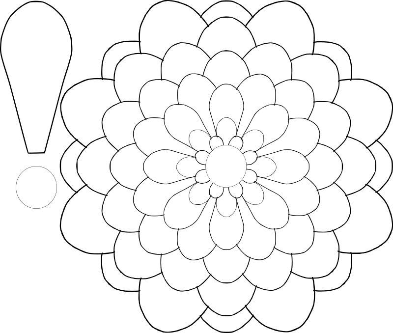 Petal clipart giant flower MEDIUM Flower (PNG) Choice Template