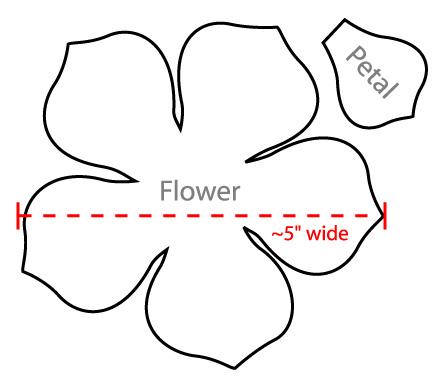 Petal clipart one flower Petal flower flower template Google