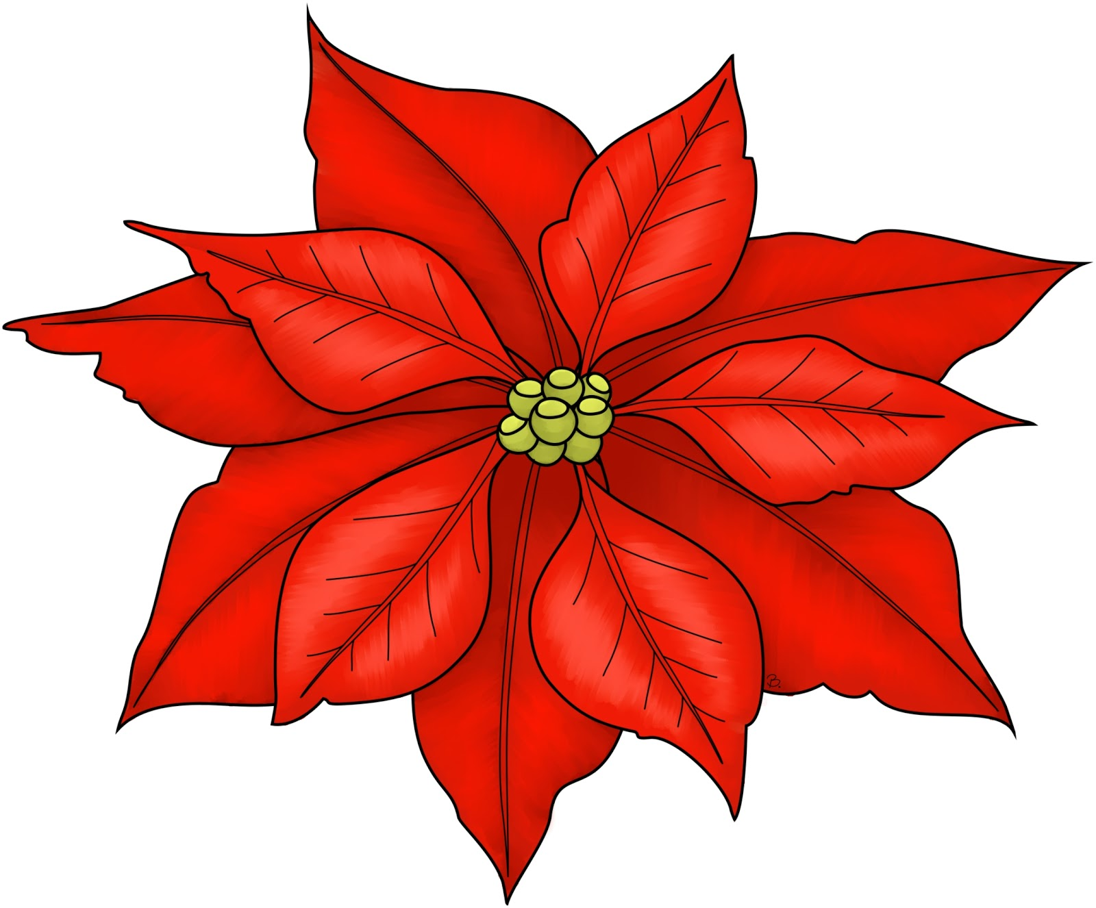 Poinsettia clipart cute Make cute Printable cards Christmas