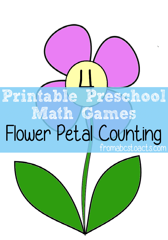 Petal clipart preschool Preschool Flower ACTs to Counting