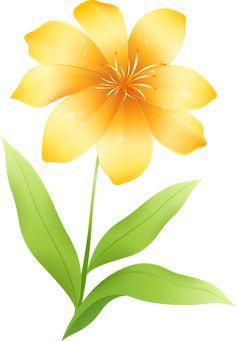 Yellow Flower clipart tropical flower  Cartoon Flower Clip Bird