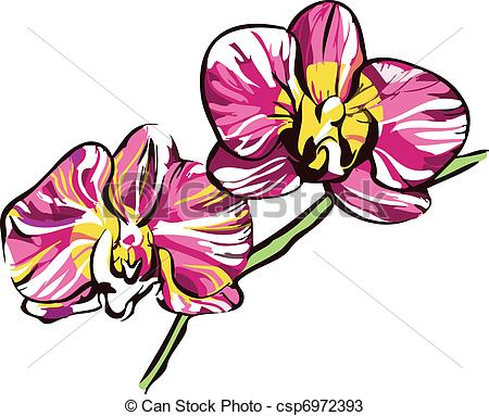 Petal clipart two Two and violet yellow Vector
