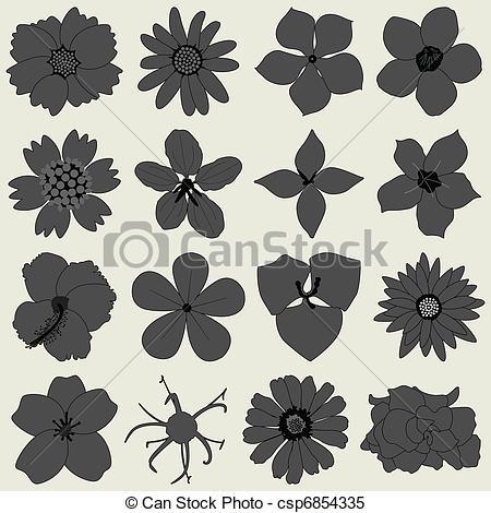 Petal clipart vector In Petals flora 556 type