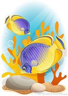 Butterflyfish clipart blue fish Angelfish about Vector Cartoon Angelfish