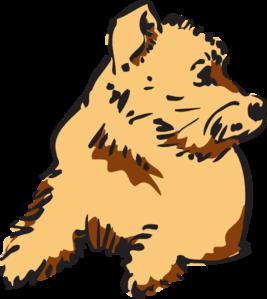 Pet clipart animal fur Dog Curious clip Dog vector