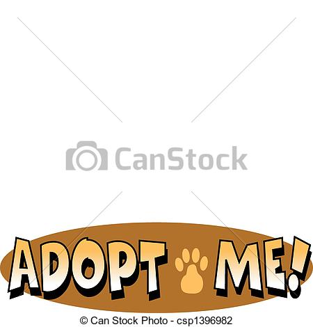 Pets clipart animal rescue Sign Clip Vector Adoption Little