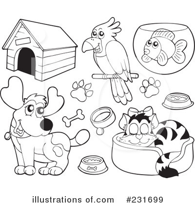 Pets clipart black and white Free pet%20clipart Pet Clip And