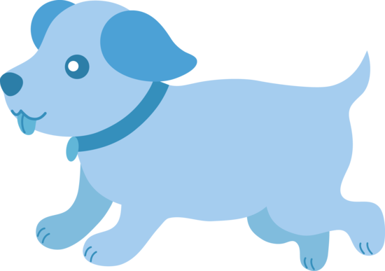 Pet clipart blue animal Running Blue Baby Cute Free