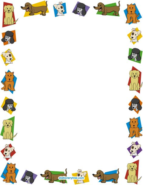 Pets clipart boarder PDF images BORDERS AND best