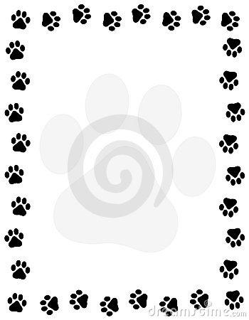 Paw clipart border Dog%20paw%20border%20clipart Clipart Border Panda Paw