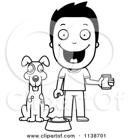 Pets clipart boy dog (RF) Royalty Vector Clipart Feeding