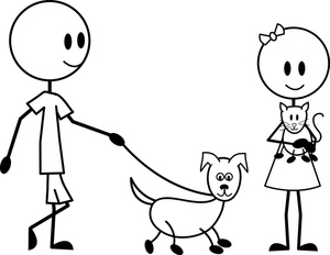Pets clipart boy dog Image: Children Pets Their and