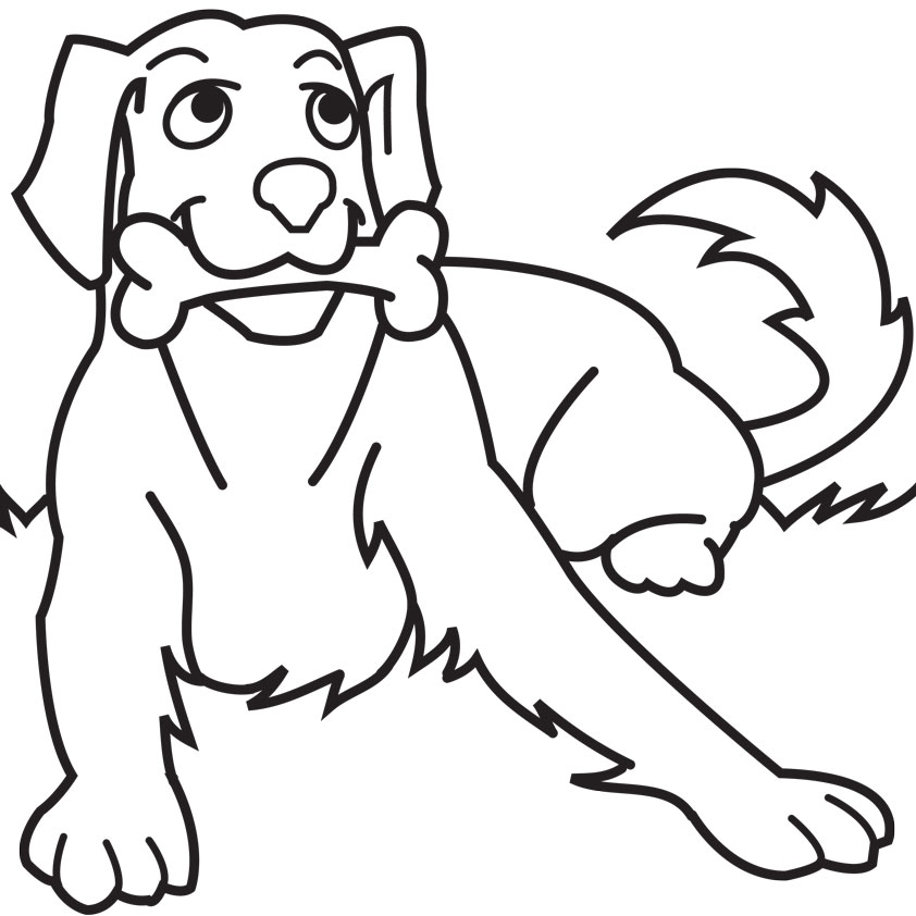 Pet clipart coloring picture Coloring Free Kids Pages Bone