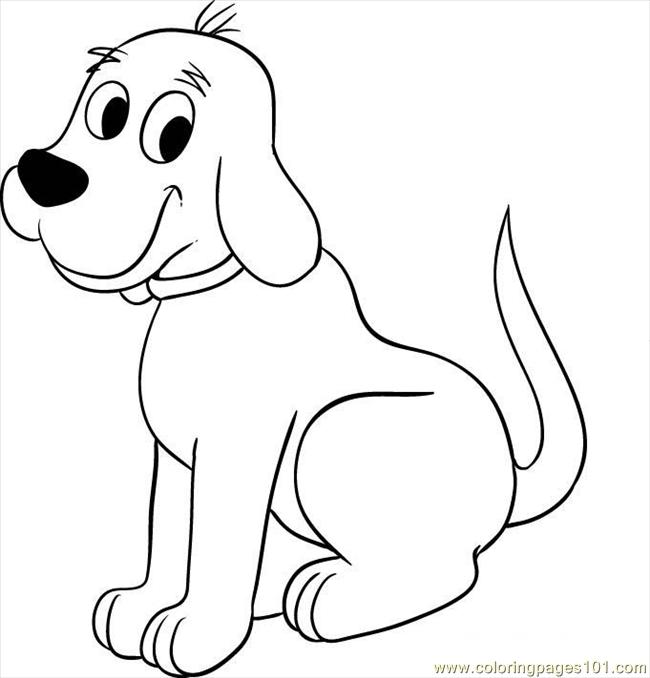 Clifford clipart coloring page Red Coloring big dog Pages