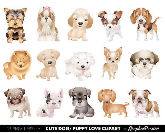 Realistic clipart puppy #10