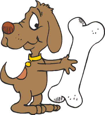 Bones clipart big dog 3 Dog bone clipart free