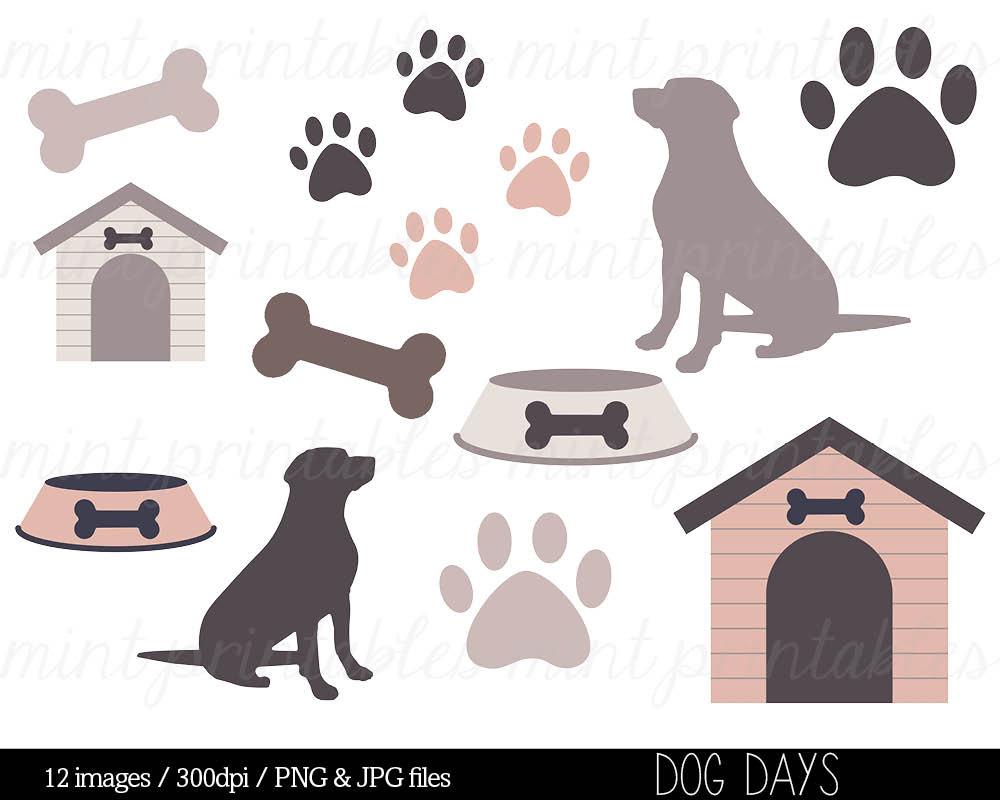 Bones clipart paw print Art Dog house Clipart Pets