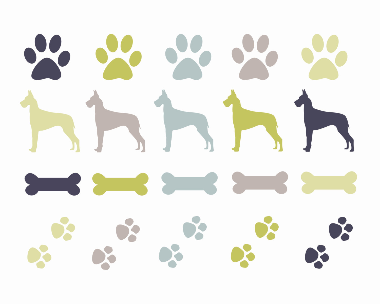 Pets clipart dog bone Dog paw  discoveries for