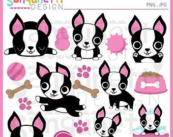 Pets clipart dog owner Cat clipart Boston dog clipart