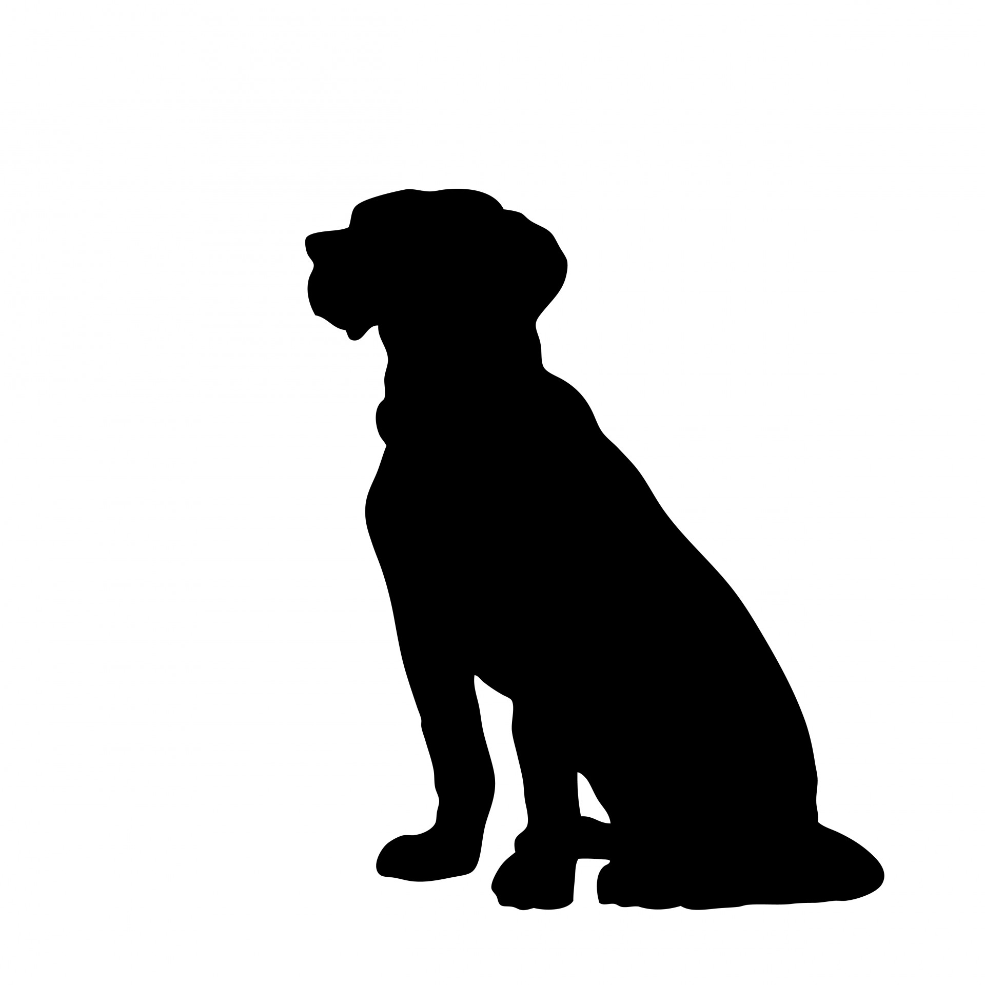 Perro clipart dog outline Black Sitting Clipart Photo Sitting
