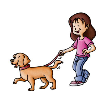 Pets clipart dog walking Look clipart Easy dog after