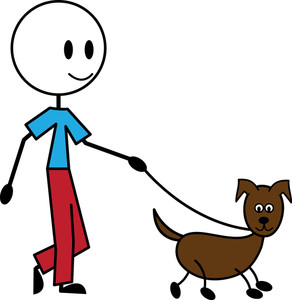 Pets clipart dog walking Pet person Illustration of Clipart