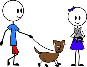 Boy clipart walking dog Art Clipart pick Clipart Leash