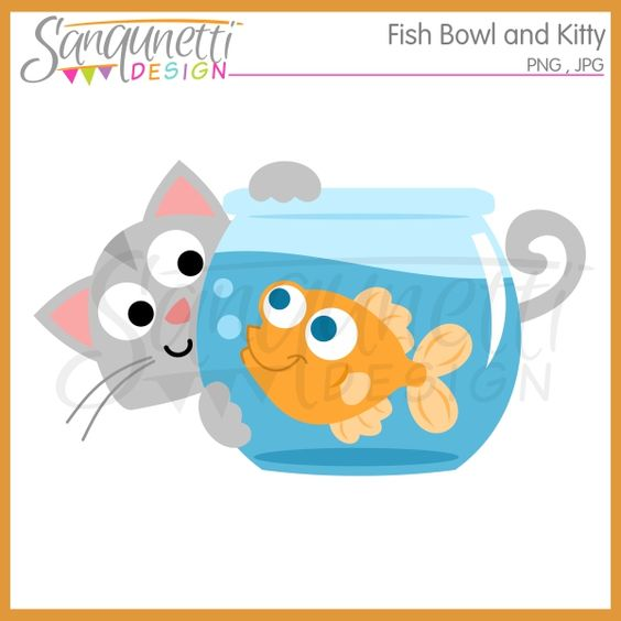 Pet clipart goldfish bowl Dogs Goldfish Design: Goldfish Sanqunetti