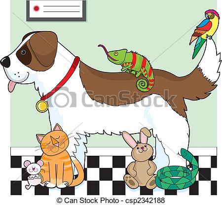 Pets clipart group pet A Group Pet standing Stock