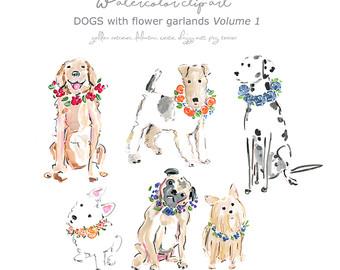 Pets clipart group pet Dogs Dog Art Watercolor Clip