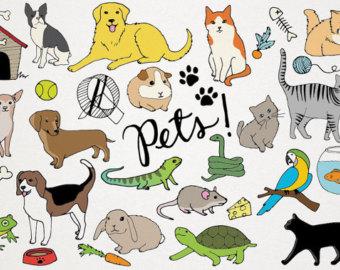 Pets clipart group pet Hand art dogs Pets Dog